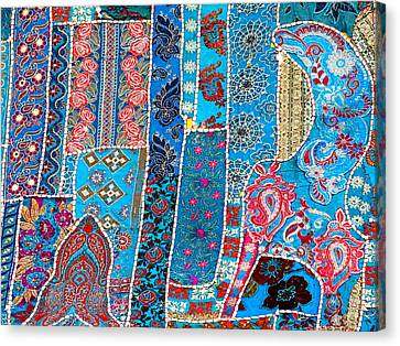 Travel Shopping Colorful Tapestry 2 India Rajasthan Canvas Print by Sue Jacobi