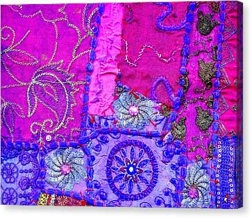 Travel Shopping Colorful Tapestry Series 12 India Rajasthan Canvas Print by Sue Jacobi