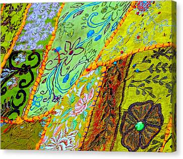 Travel Shopping Colorful Tapestry Series 15 India Rajasthan Canvas Print by Sue Jacobi