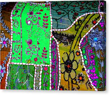 Travel Shopping Colorful Tapestry Series 16 India Rajasthan Canvas Print by Sue Jacobi