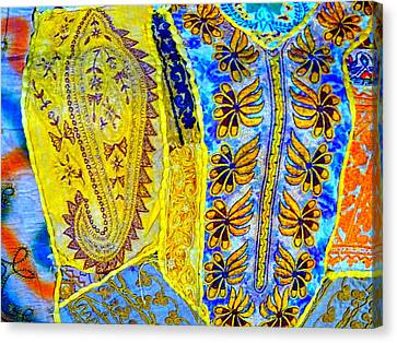 Travel Shopping Colorful Tapestry Series 17 India Rajasthan Canvas Print by Sue Jacobi