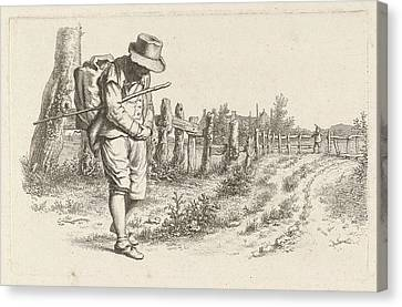 Traveler On A Country Road, Jacob Ernst Marcus Canvas Print by Artokoloro