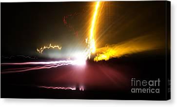 Streetlight Canvas Print - Traveling Light by Al Bourassa