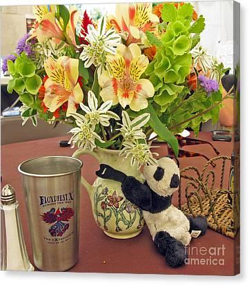 Traveling Pandas- Floyd At Floydfest Canvas Print by Ausra Huntington nee Paulauskaite