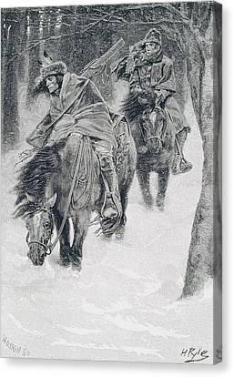Brandywine Canvas Print - Travelling In Frontier Days, Illustration From The City Of Cleveland By Edmund Kirke, Pub by Howard Pyle