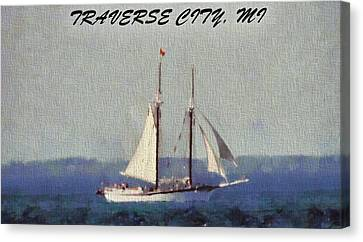 Traverse City Postcard Canvas Print by Dan Sproul