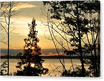 Traverse City Sunrise Canvas Print by Diane Lent