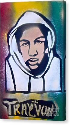 Trayvon Rasta Canvas Print by Tony B Conscious