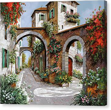 Rural Landscapes Canvas Print - Tre Archi by Guido Borelli