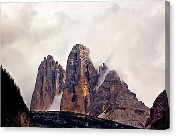 Canvas Print featuring the photograph Tre Cime Di Lavaredo by Charles Lupica