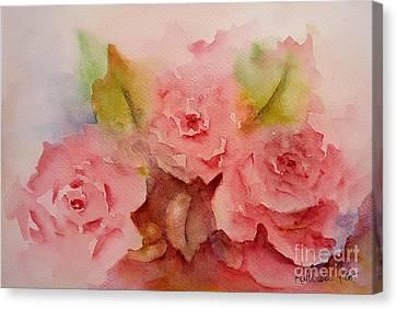 Tre Rose Canvas Print by Kathleen Pio
