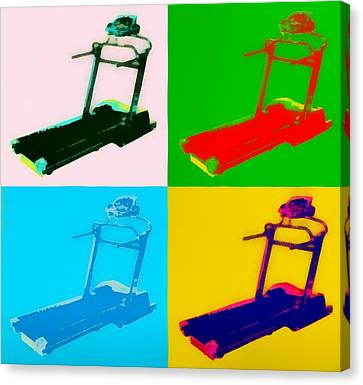 Treadmill Pop Art Canvas Print