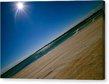Canvas Print featuring the photograph Treads In The Sand by DigiArt Diaries by Vicky B Fuller