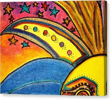 Treasure Hunt Art Puzzle Number 3 Carnival Canvas Print