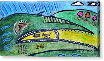 Treasure Hunt Art Puzzle Ocean Canvas Print