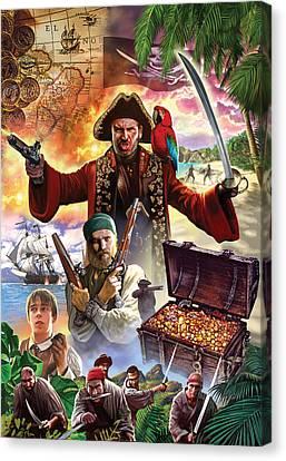 Gunman Canvas Print - Treasure Island by Steve Crisp