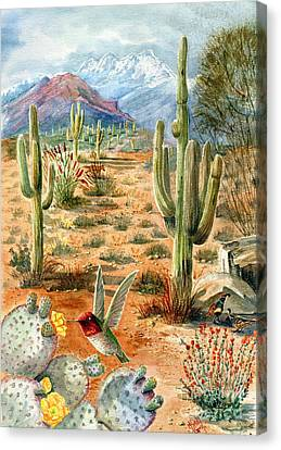 Treasures Of The Desert Canvas Print