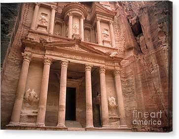 Treasury, Petra, Jordan Canvas Print by Catherine Ursillo