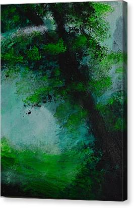 Tree And Mist Canvas Print by P Dwain Morris