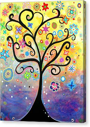 Tree Art Fantasy Abstract Canvas Print by Bob Baker and Pooki Lee