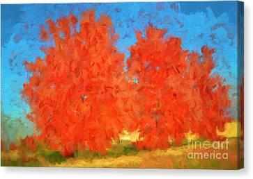 Tree - Autumn Wonder - Luther Fine Art Canvas Print by Luther Fine Art