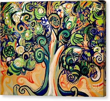Tree Candy 2 Canvas Print by Genevieve Esson