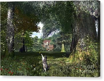 Tree Cat Canvas Print by Dominic Davison