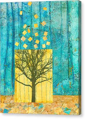 Nature Abstracts Canvas Print - Tree Collage by Ann Powell