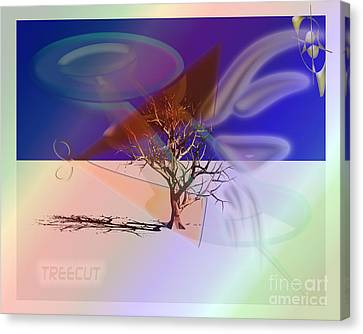 Tree Cut Canvas Print