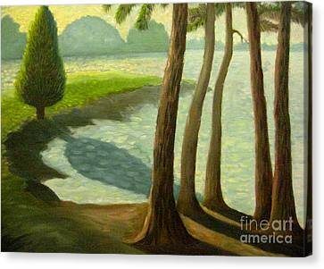 Tree Gossip At Galt's Ferry Canvas Print