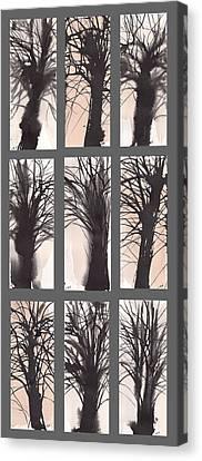 Tree Grid Canvas Print