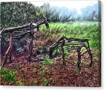 Tree Horse Canvas Print