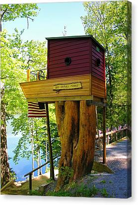 Tree House Boat Canvas Print