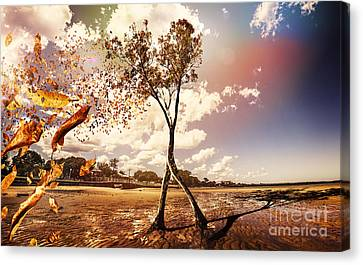 Mystical Landscape Canvas Print - Tree Leaves On A Sea Change by Jorgo Photography - Wall Art Gallery