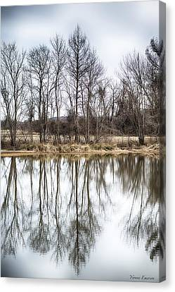 Canvas Print featuring the photograph Tree Line In Winter  by Yvonne Emerson AKA RavenSoul