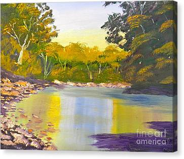 Tree Lined River Canvas Print