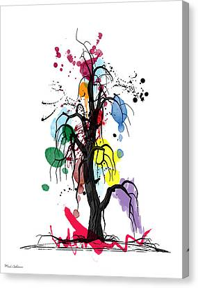 Caricature Canvas Print - Tree by Mark Ashkenazi