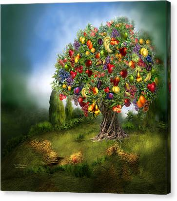 Canvas Print featuring the mixed media Tree Of Abundance by Carol Cavalaris