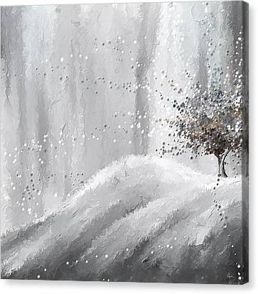 Tree Of Grays Canvas Print by Lourry Legarde