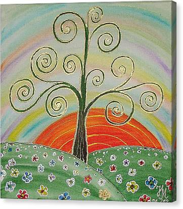Tree Of Happiness Canvas Print by Nina Mitkova