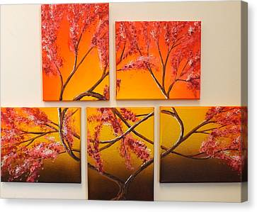Tree Of Infinite Love Canvas Print
