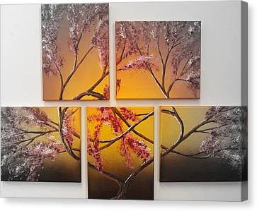 Tree Of Infinite Love Spotlighted Canvas Print