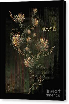 Tree Of Knowledge In Bloom - Oriental Art By Giada Rossi Canvas Print by Giada Rossi
