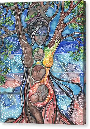 Canvas Print featuring the painting Tree Of Life - Cha Wakan by Tamara Phillips