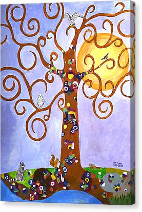 Gustav Klimt Tree Of Life Canvas Print by Ethan Altshuler