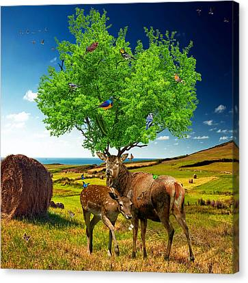 Tree Of Life Canvas Print by Marian Voicu