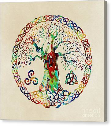 Tree Of Life Canvas Print by Olga Hamilton