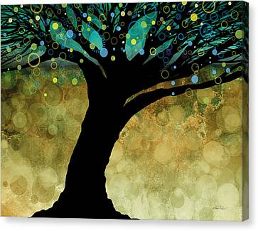 Tree Of Life Two  Canvas Print by Ann Powell