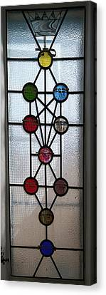 Tree Of Life With Ten Sephirots Canvas Print