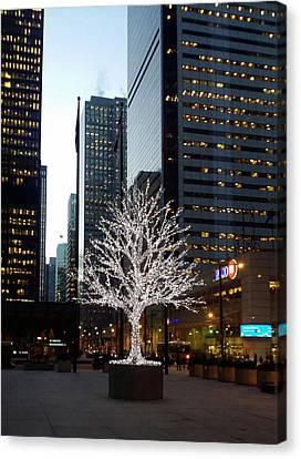 Tree Of Lights II Canvas Print